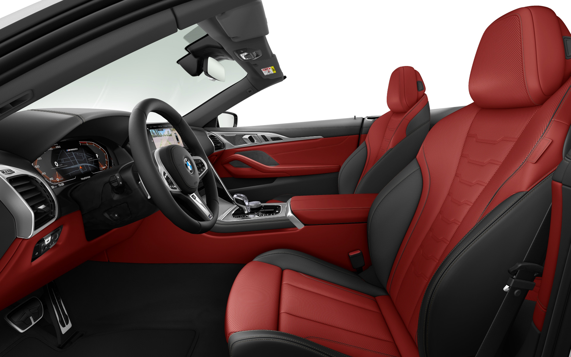 BMW Individual extended leather trim Merino Fiona Red/Black | Black