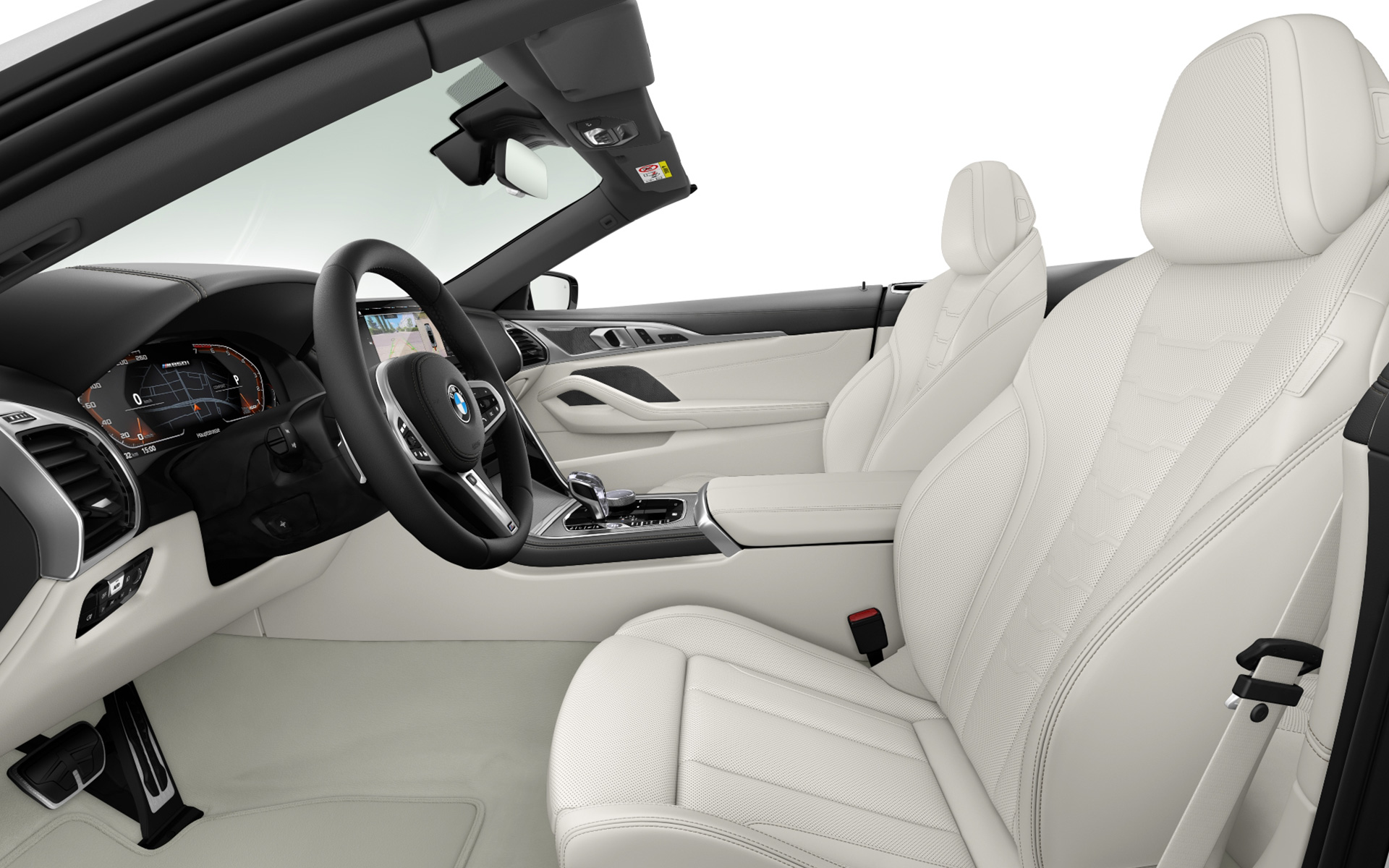 BMW Individual extended leather trim Merino Ivory White | Ivory White