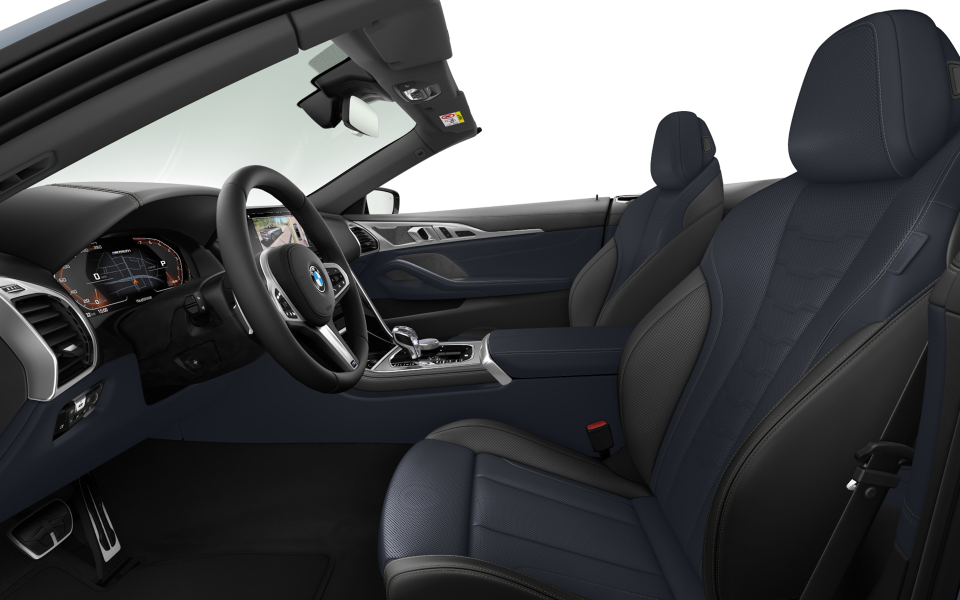 BMW Individual extended leather trim Merino Night Blue/Black | Black